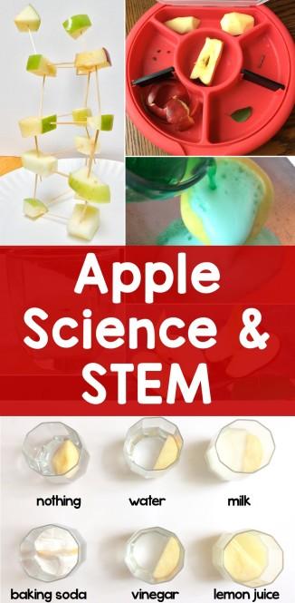 apple science experiments & STEM activities