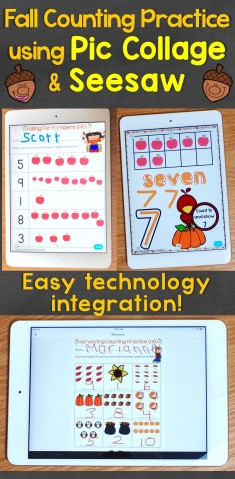 Fall Counting Practice Using Pic Collage and Seesaw