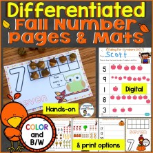 Differentiated Fall Number Pages and Counting Mats