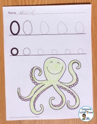differentiated alphabet letter page